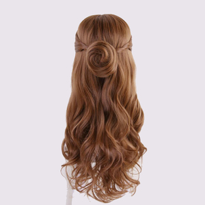 Image 5 - Beauty and the Beast Princess Belle wig Cosplay Costume Women Long Wavy Synthetic Hair Halloween Party Role Play wigs
