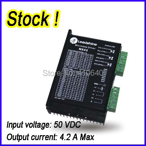 Leadshine M542 2 Phase Analog Stepper Motor Drive Max input 50 VDC output 4.2A IN STOCK ! FREE SHIPPING! 2 phase stepper motor and drive m542 86hs45 4 5n m new