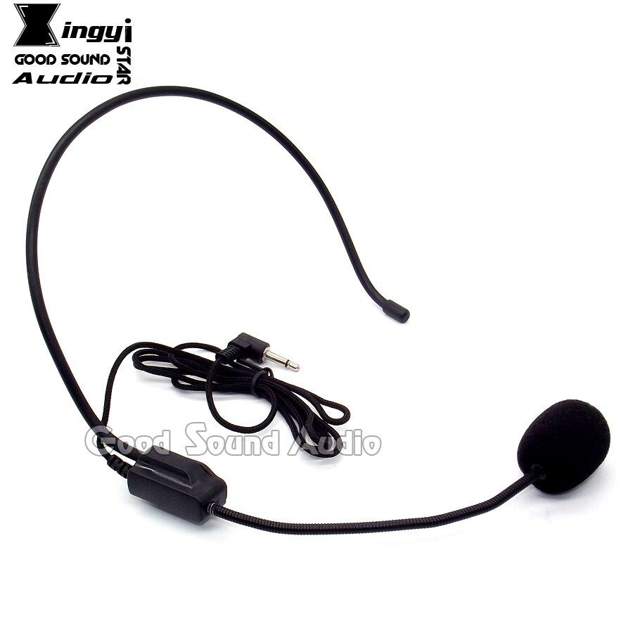3.5mm Plug Filaire Tour D'oreille Serre-Tête Microphone À Condensateur Bandeau Mic Pour Sans Fil Mégaphone Ordinateur la Tournée Enseignement Guide