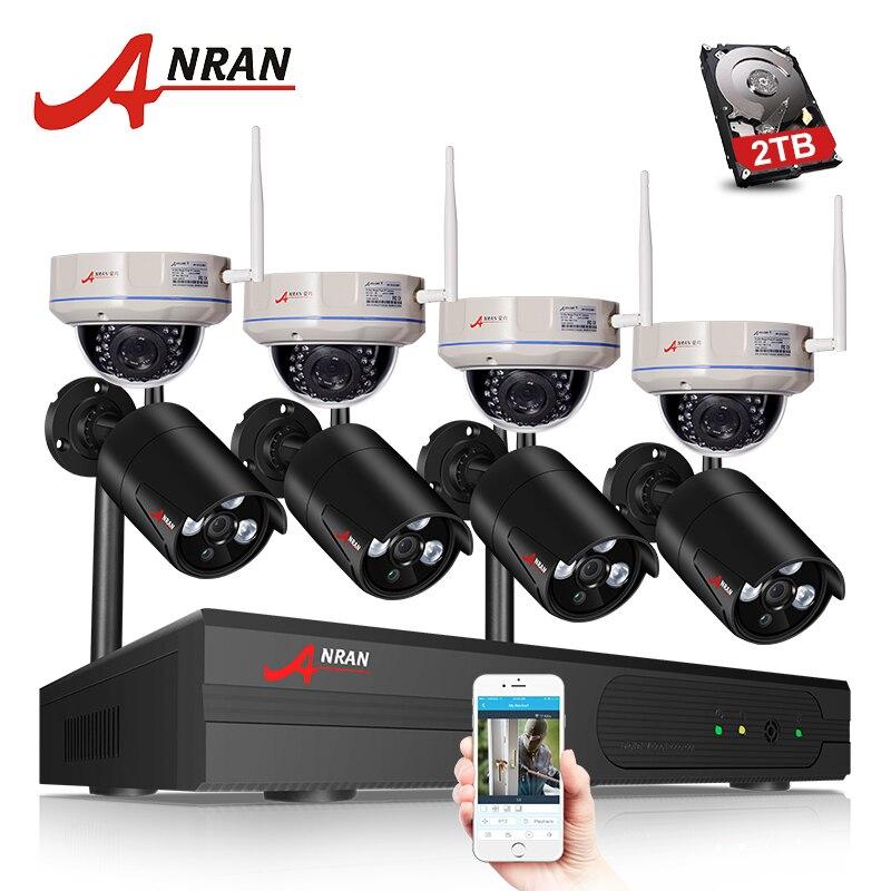 ANRAN H.265 8CH Wifi NVR Sans Fil Système CCTV Réseau Enregistreur Vidéo 1080 p HD de Sécurité Wifi IP Caméra Vidéo Surveillance kit