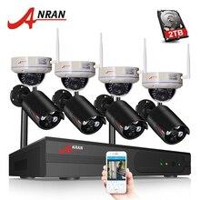 ANRAN H.265 8CH Wi-Fi NVR Беспроводной CCTV Системы сети видео Регистраторы 1080P HD безопасности Wi-Fi IP Камера комплект видеонаблюдения