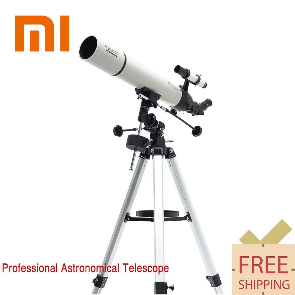 New Xiaomi BEEBEST XA90 Professional Outdoor Astronomical Telescope Main Mirror Caliber Aluminum Finderscope Monocular For Space monochrome