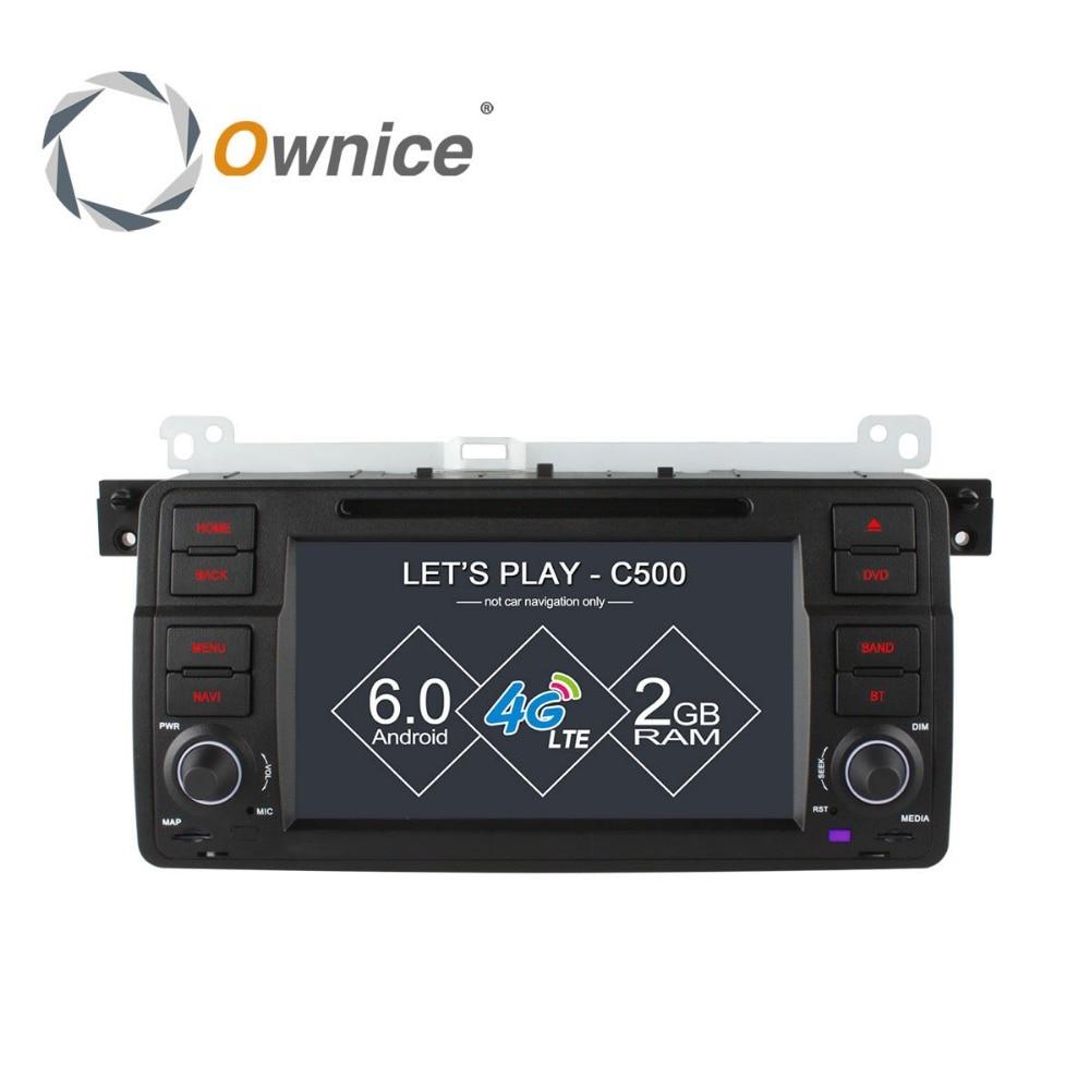 Ownice для BMW E46 3 серии Compact Кабриолет Touring Coupe Android устройства автомобилей DVD Радио Видео плеер Аудио PC gps стерео TB 4 г