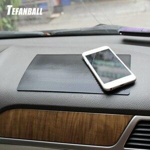 Image 1 - Auto Ornament PVC Anti Rutsch matte Sticky Pad Autos Interior Dashboard Beleg matte Für Telefon Münze Sonnenbrille Halter zubehör
