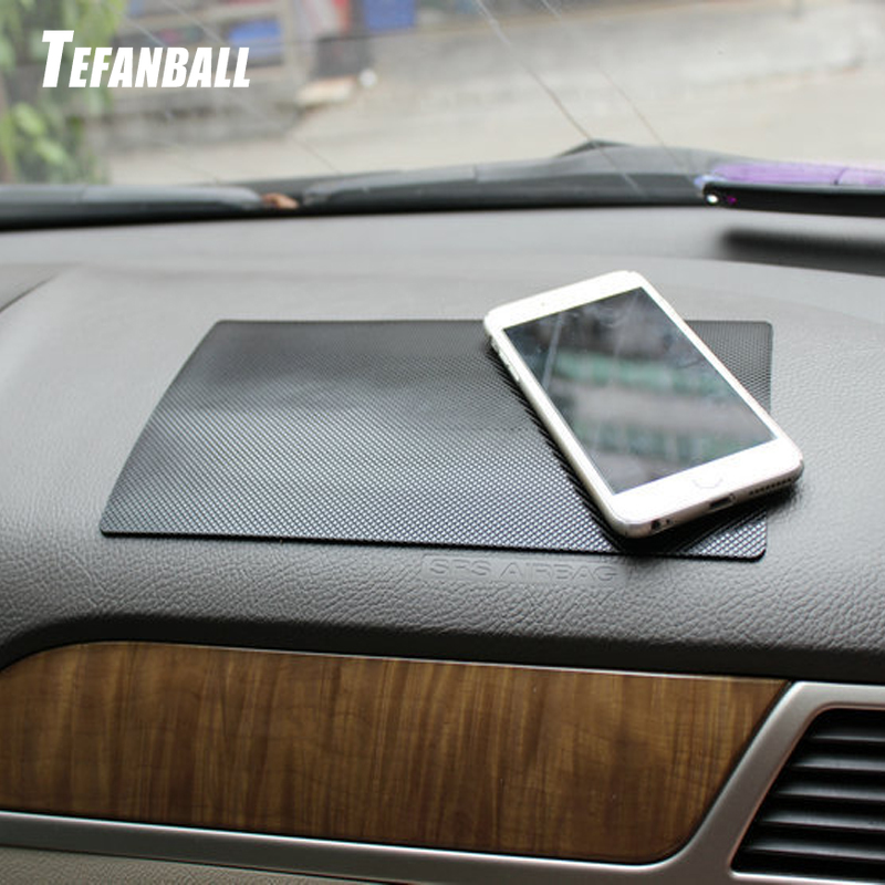 Image 1 - Car Ornament PVC Anti Slip Mat Sticky Pad Automobiles Interior Dashboard Non Slip Mat For Phone Coin Sunglass Holder Accessories-in Anti-Slip Mat from Automobiles & Motorcycles
