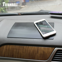 Ornamento do carro pvc antiderrapante esteira pegajosa almofada automóveis painel interior não deslizamento esteira para telefone moeda sunglass titular acessórios