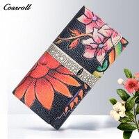 Cossroll Vintage Designer Wallets Smart Phone Clutch Bags Genuine Leather Purse Famous Brand Women Wallet Luxury