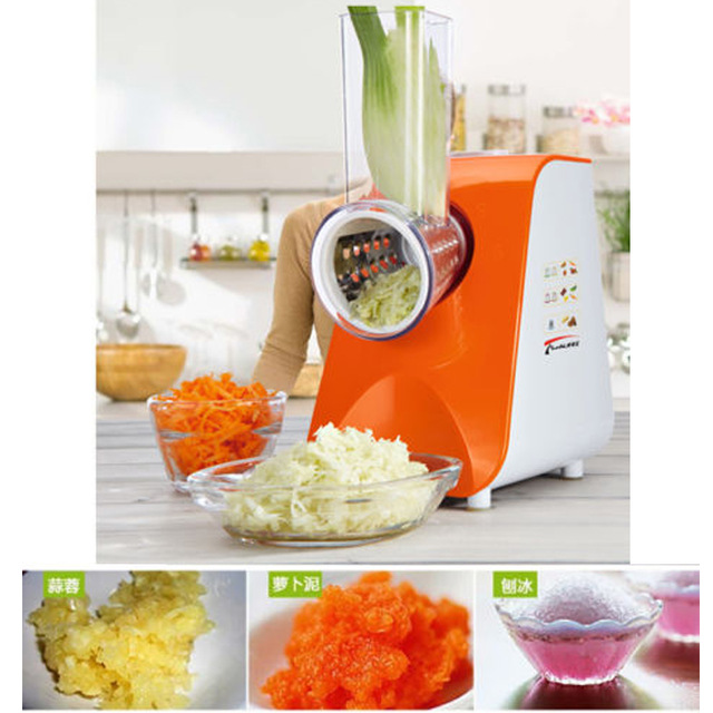 High Quality Automatic Electric fruit Salad Slicers Cutt Shredder Machine Vegetable Cutter Fruit Onion Slicer Shredder multi functional portable slicer peeler shredder white