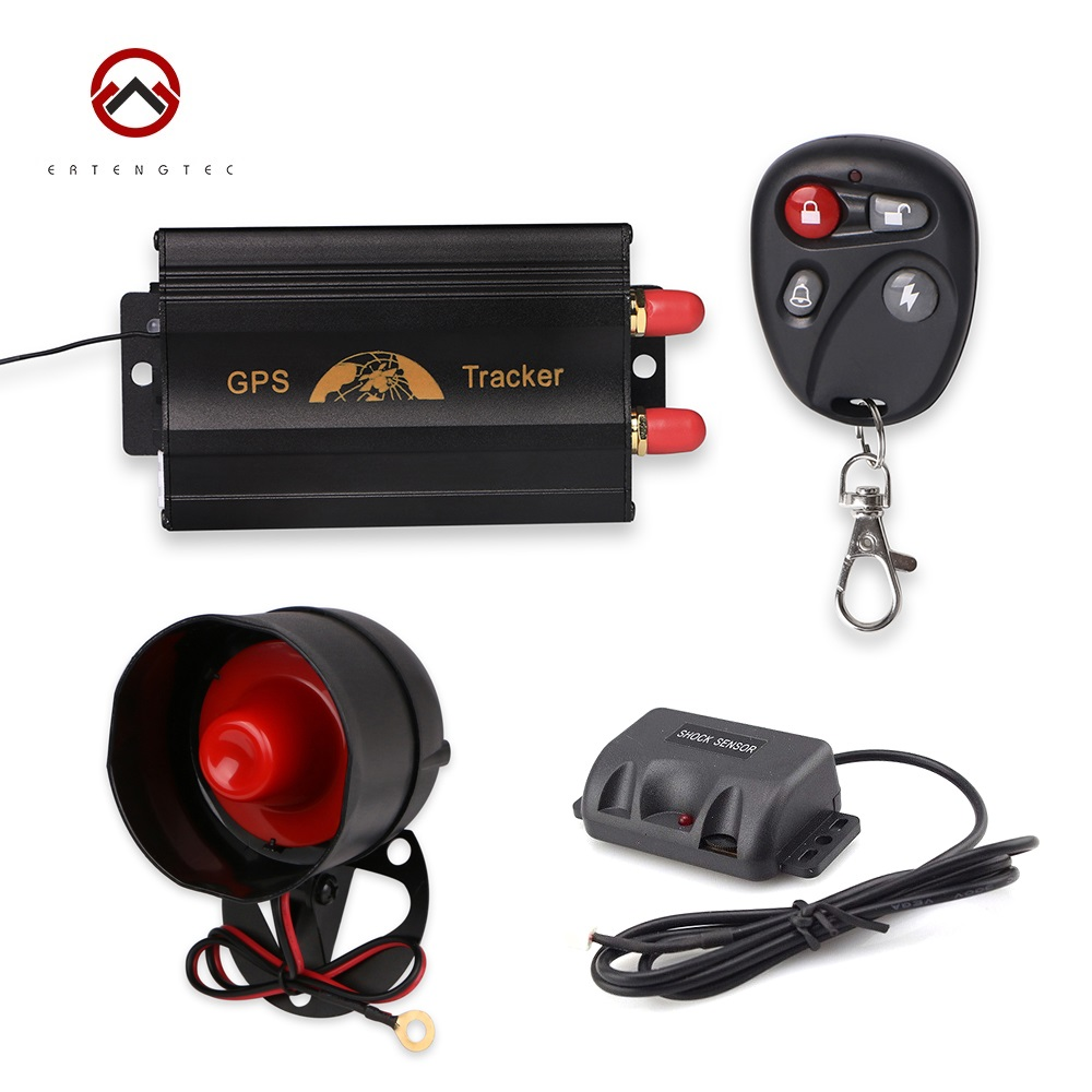 Coban TK103B Vehicle GPS Tracker GPS103B Car Tracking Motorcycle Alarm Cut Off Oil Power With Remote Control Shake Sensor Siren rf v8 direct factory high efficiency gps tracker tracking device 4 band gsm gps gprs car vehicle motorcycle alarm