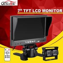 Night Vision 600TVL 3.6mm CCD Retrovisor Do Carro Estacionamento Câmera Dupla com 7 Polegadas TFT LCD Monitor Para Reverter O Backup Monitor Do Carro Kits