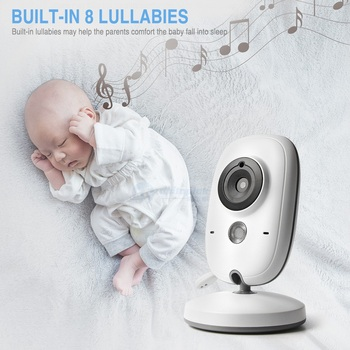 3.2 Inch 2.4GHz Wireless Video Color Baby Monitor High Resolution Baby Nanny Security Camera Night Vision Temperature Monitoring 3