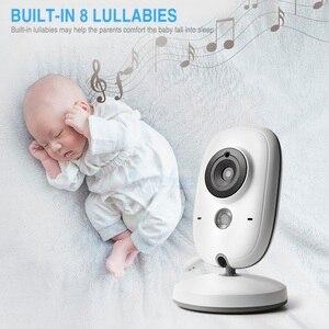 Image 4 - 3,2 pulgadas 2,4 GHz Monitor de vídeo inalámbrico Color bebé de alta resolución niñera cámara de seguridad visión nocturna monitoreo de temperatura