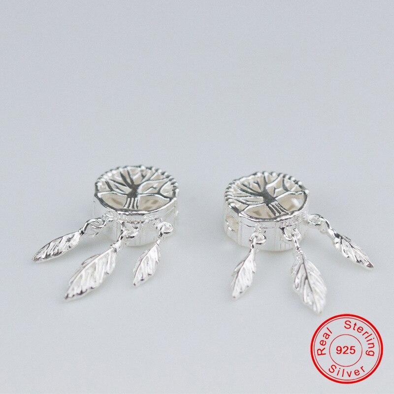 Купить uqbing 925 пробы серебро 25*11*5 мм бусины ловец снов для женщин