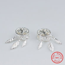 Uqbing 925 пробы серебро 25*11*5 мм бусины Ловец снов для женщин