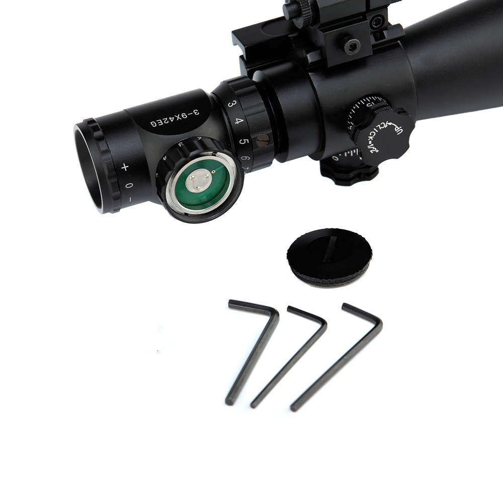 Night Riflescope 3-9x42EG Rifle Scope Red Green Dot Illuminated Telescopic Sight Riflescope w/ Tactical Red Laser Scope Sight 3 10x42 red laser m9b tactical rifle scope red green mil dot reticle with side mounted red laser guaranteed 100%