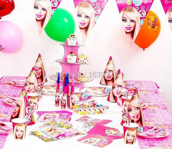 78 Pcs Livraison Gratuite Pour 6 Peuples Barbie Poupee Theme Party