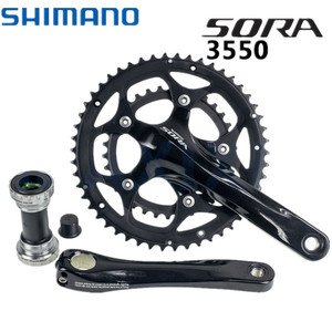 Shimano Sora FC-3550 Crankset 170mm 50/34T Double Compact Crank BSA Bottom Bracket 3550 Chain Wheel Guard Cover Protector 2x9s(China)