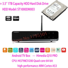 "2017 HiMedia Q10 PRO 3D 4 K UltraHD Intelligent Android 5.1 TV Box 2 GB/16 GB HDMI 2.0 Bluetooth 4.0 Double WiFi & 1 TB 3.5 ""HDD Disque Dur"