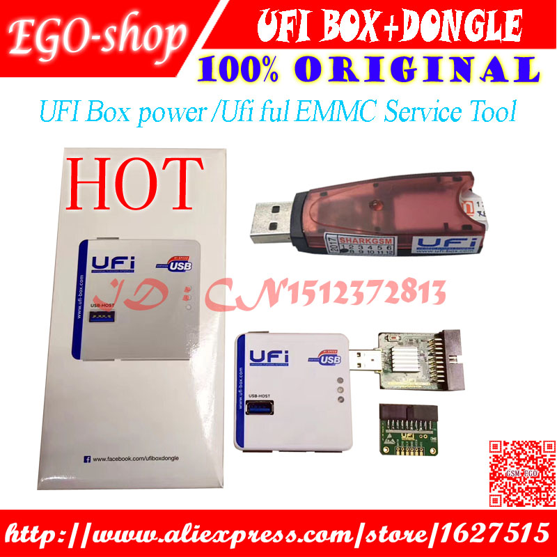 Gsmjustoncct 2018 Newest 100% ORIGINAL UFI BOX Powerful EMMC Service Tool  DONGLE