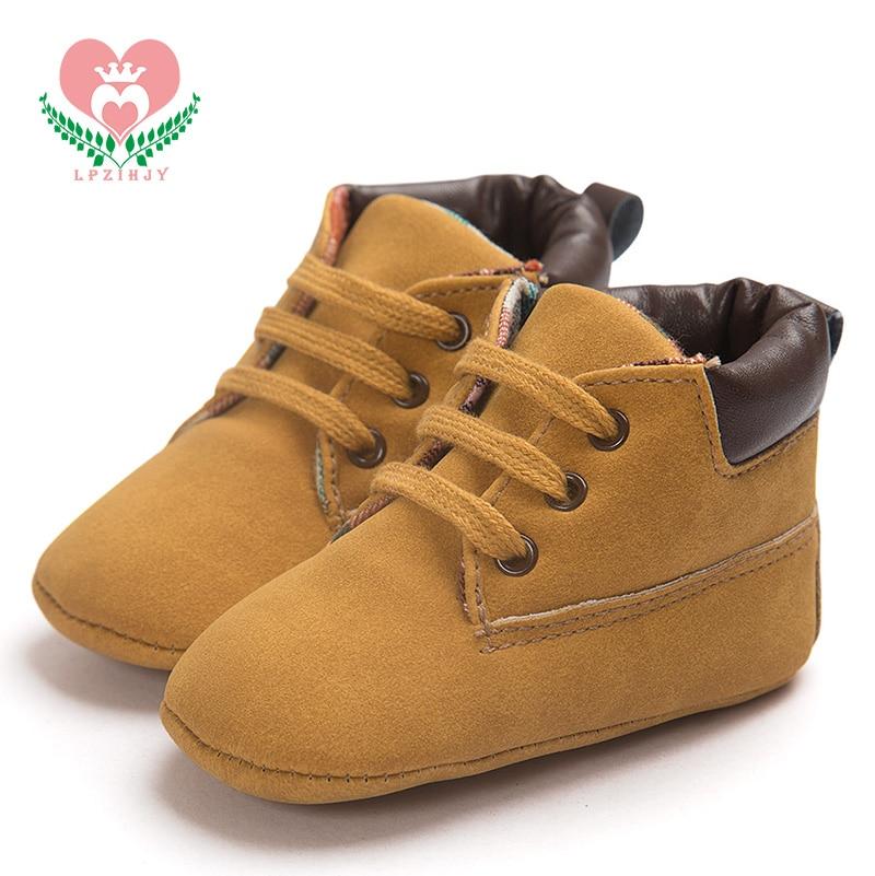 0-18M Soft Newborn Baby Moccasins shoes lace-up kids shoes spring/autumn cross-tied shoes kids tan boys shoes kids