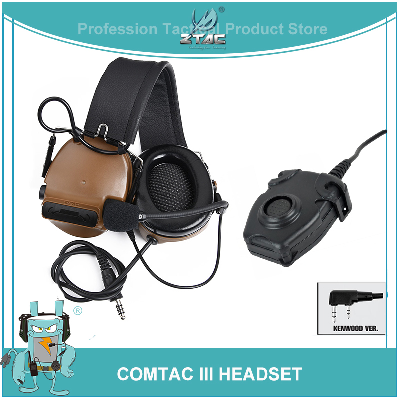 Z Tactical Peltor Airsoft Aviation Comtac III Headset Canceling Noise Shooting Headphones With Softair Midland PTT Z051Z Tactical Peltor Airsoft Aviation Comtac III Headset Canceling Noise Shooting Headphones With Softair Midland PTT Z051