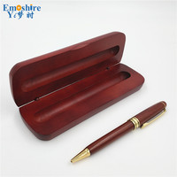 Creative Signature Pen Wood Roller Ball Pen Ballpoint Pen For Writing With Pencil Box Chinese Style Wood Stationey Supplies P046