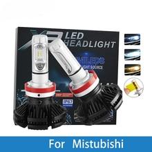 LED Car Headlight Bulb H4 H7 H3 12V Auto Lamp For Mitsubishi Outlander/Nimbus/Montero/Mirage/Magna/Lancer/Grandis/Galant/Expo