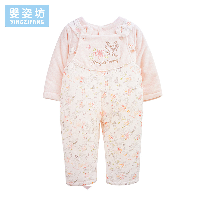 Autumn Winter Baby Girls Sets Clothing Long Sleeve Tops and Harness Trousers Infant Suit Costume Cute Printing Newborn Clothes