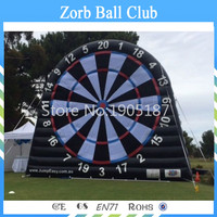 Free Shipping 5m New Design PVC Inflatable Football Dart Board For Soccer Shooting Game