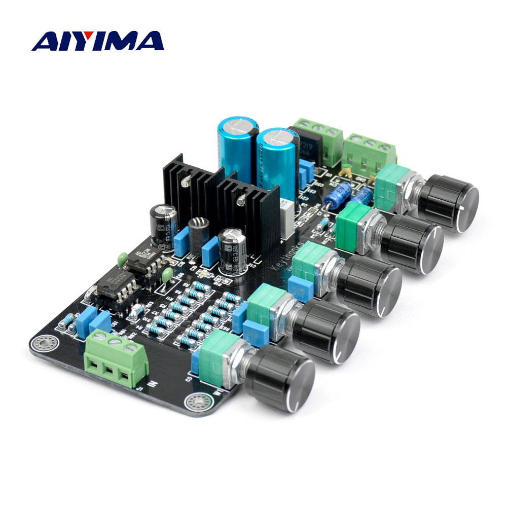Aiyima Updated OPA2604 AD827JN OPAMP Stereo Preamp Pre-amplifier Volume Tone Control Board queenway dq1 preamplifier pre amp preamp pre amplifier pre amplifier class a delicate amplifier 1 85kg