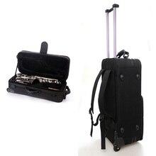 BE чехол для саксофона-Альта sax сумка через плечо Портативная сумка для Духового Инструмента Sax чехол на колесиках мягкий черный рюкзак сумки Alto sach чехол