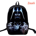 16 Inch Kids Backpack Star Wars School Bags For Boys Satchel Cartoon Orthopedic Darth Vader Children Backpacks Mochilas Infantis