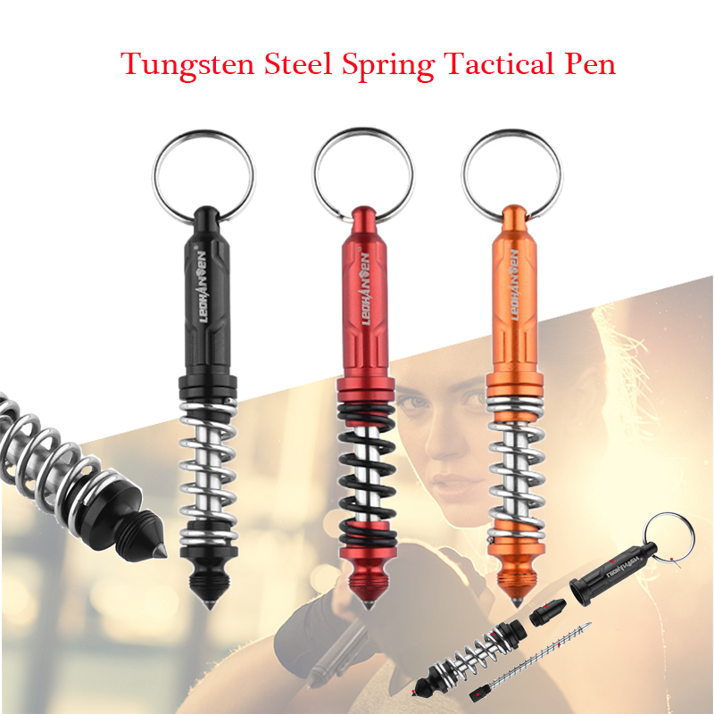 New T 6 Spring Tactical Pen Tungsten Steel Self Defense Pen Tactical Survival  Pens Multifunction