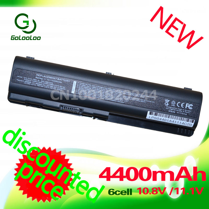 Golooloo Battery For HP Pavilion G61 G50 DV6 DV4 DV5 DV6T For Compaq Presario CQ50 CQ61 CQ71 CQ70 CQ60 CQ45 CQ41 CQ40 ev06 lidy pa 1650 02hc 65w 3 5a ac power adapter for hp compaq cq35 cq40 cq45 7 4 x 5 0mm