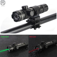 Tactical Green Red Laser Sight Scope Hunting Rifle Scope Shooting Airsoft Sport Air Guns Laser Sight Riflescope For 20mm Mount tactical 4x32 rifle scope fiber optic illuminated scope for 20mm rail hunting shooting military red green dot reticle sight