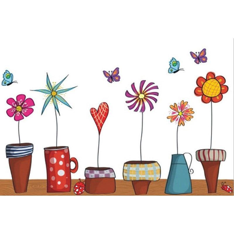 Afbeeldingsresultaat voor tekening plant in pot