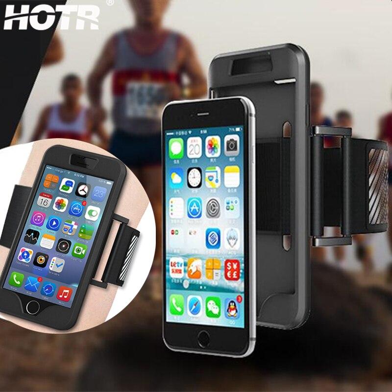 d8e524054a4 Entrenamiento del brazal del deporte para el iPhone 6 6 s 4.7/5.5 Plus  funda para Apple 5 5S se 5g correr/escalada cubierta trasera flexible banda  de nylon