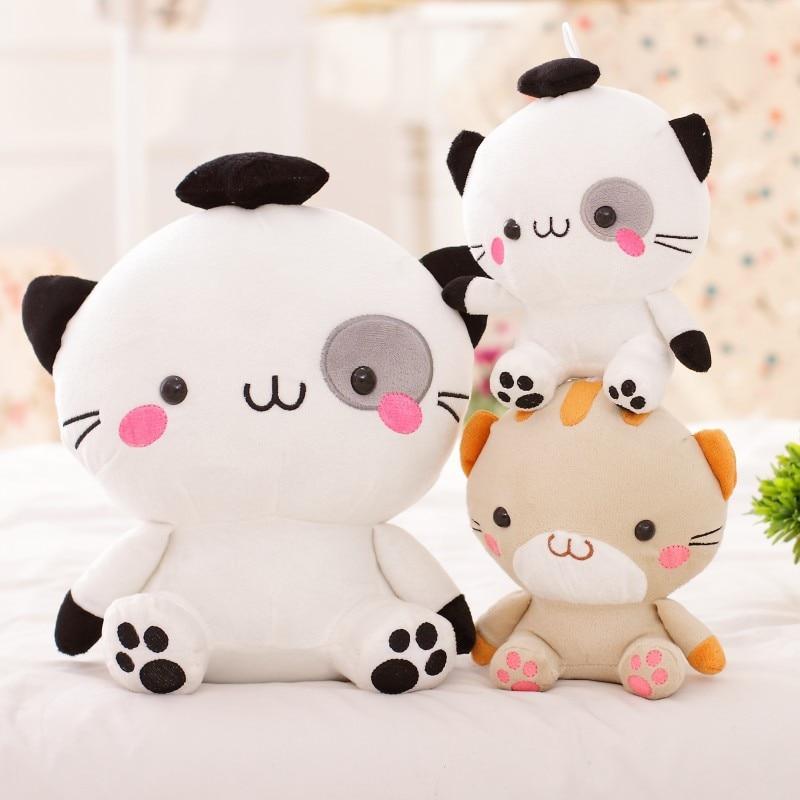 Игрушек! Супер милые плюшевые игрушки милая пара мини Кот с большой мордочкой котенок мягкая игрушка кукла День рождения Рождественский подарок 1 шт