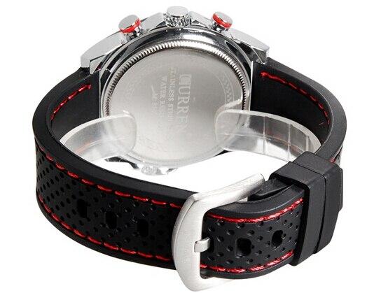 CURREN Luxury Brand Silicone Strap Watches Analog Date Men's Quartz Watch Casual Watch Men Wristwatch relogio masculino 8146 5