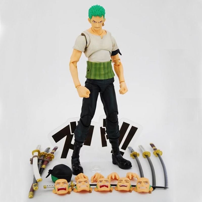 Anime One Piece Roronoa Zoro Past Blue Variable Boxed 18cm PVC Action Figure Collection  ...