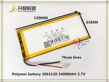 3.7 V 3400 mAH 3063120 Polymère au lithium ion/Li-ion batterie pour tablet pc téléphone portable MOBILE POWER BANQUE MP4
