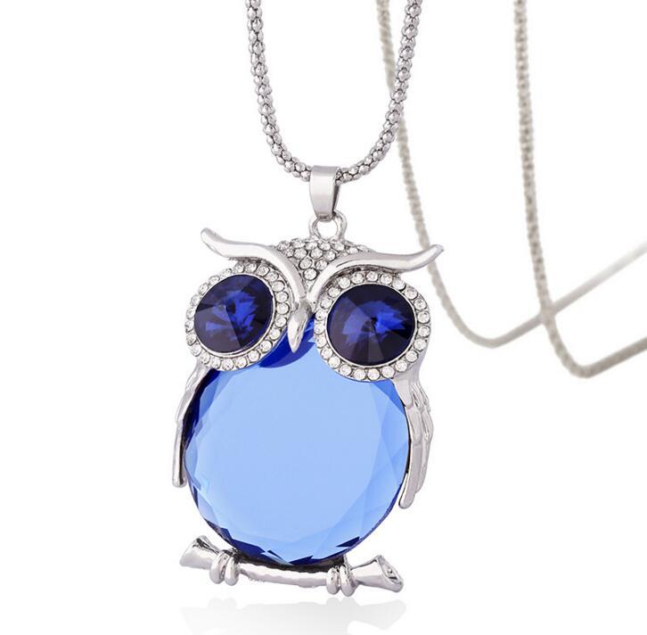 product Austria crystal owl necklaces & pendants luxury jewelry animal necklace bijoux collier sautoir long/les nereides/jewel for women