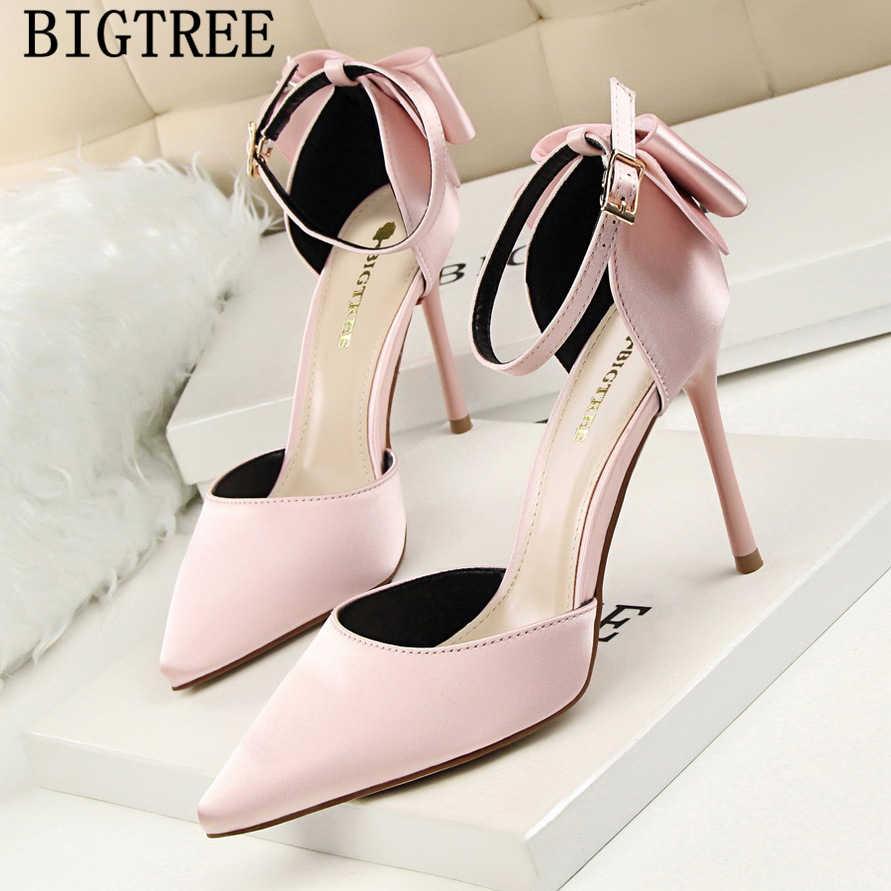 Mary jane scarpe da donna sandali degli alti talloni bigtree scarpe da punta a punta degli alti talloni delle signore pompe pattini di vestito delle donne fetish high tacchi
