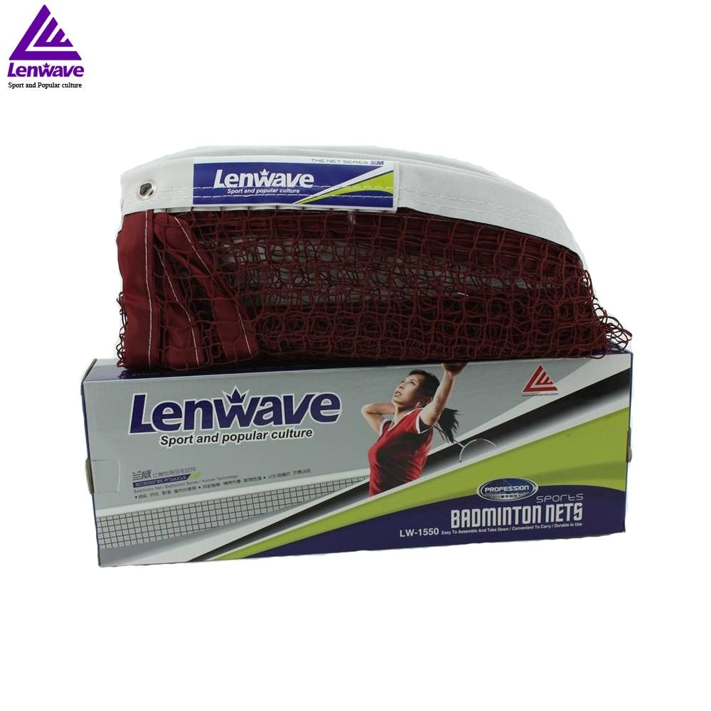 6m x 0.75m Dark Red Net For Badminton Match Lenwave Brand Sports Equipment Professional Standard Braided Badminton Net