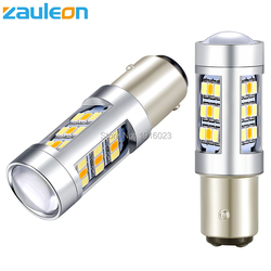 Zauleon 2pcs Super Bright Dual Color White Yellow Daytime Running Light 1157 BAY15D LED Switchback Bulb Front Turn Signal Light