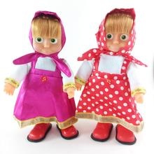 Hot Sale Russian Language toy little girl with bear Talking Musical Dolls girls Plush Toys Baby Doll Gift For Children