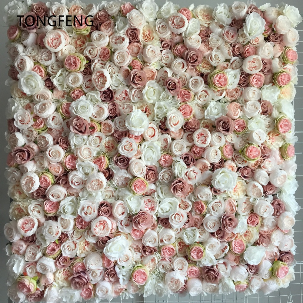 TONGFENG 10pcs lot MIXCOLOR Wedding 3D flower wall flower runner wedding Artificial silk rose peony wedding