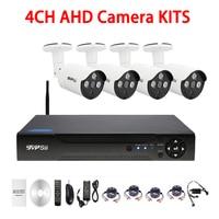 1080N 4CH AHD DVR 720P 960P 1080P Mini Dome AHD CCTV Security Camera KIT Free Shipping