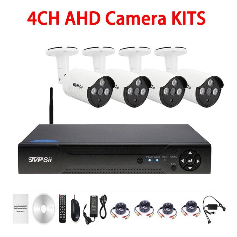 Trois Tableau Led infrarouge 5mp/4mp/2mp/1.3mp/1mp Étanche 4CH 4 Canal WIFI AHD CCTV caméra de Surveillance DVR Kits Livraison Gratuite