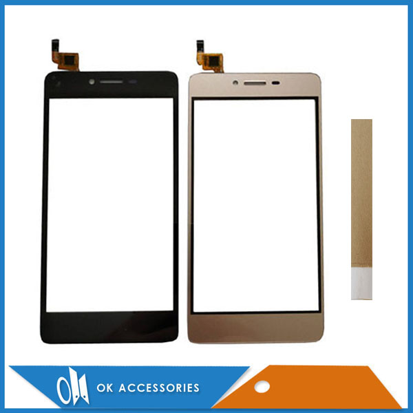 5.0 Inch For Micromax Q409 Touch Screen Digitizer Sensor Panel Front Glass Black White Gold Color With Tape
